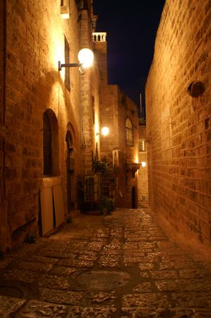 old jaffo at night