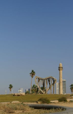 yaffo: Una mezquita en Tel Aviv  Jaffo mar playa  Foto de archivo