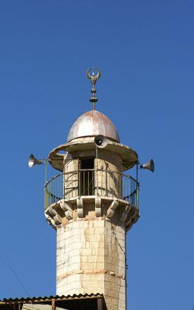minaret: Minaret in Jerusalem holy old city