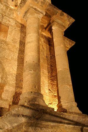 ancient columns in Rhodos, Greece island