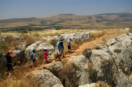 Mountains and nature in Galilee, Israel - travel vacation in  Middle East -  trip at weekend