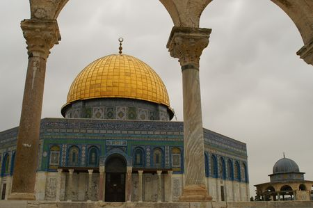 jerusalem old city - wailing wall, Temple mount, dome of the rock. israel Stock Photo