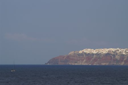 ancient atlantis: Aegean sea, Santorini island view