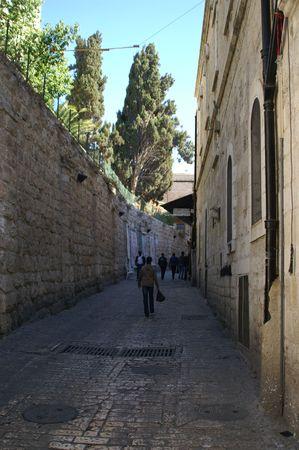 via dolorosa - the last  way in jerusalem photo
