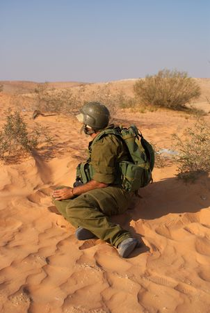 israeli soldiers attacks - war againist terror Stock Photo