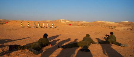 israeli soldiers attacks - war againist terror photo