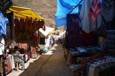 Custom priducts in local peru market tourists attraction
