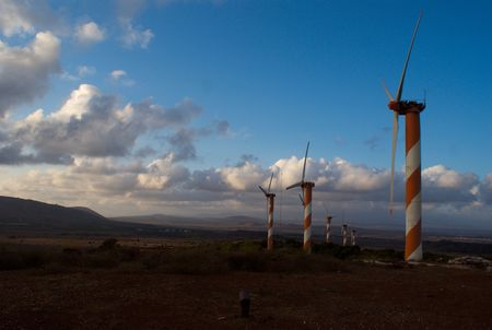 in the heights: green energy - wind turbine in golan heights