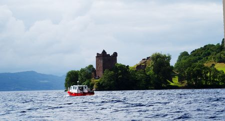 Loch ness lake in Scotland torurism and highlands photo
