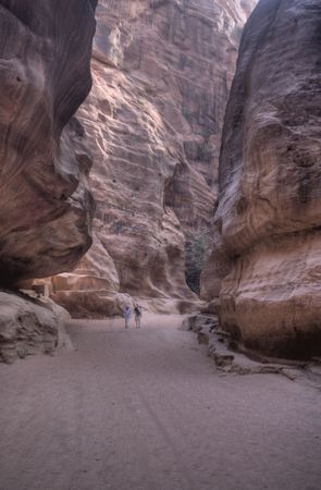 nabatean: Tourist vacation in nabatean town Petra, beduins experience, Jordan Stock Photo