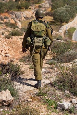 Israeli soldier patrol in West Bank fight with terrorist photo