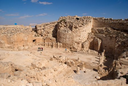 judea: Herodion temple castle in Judea desert, Israel