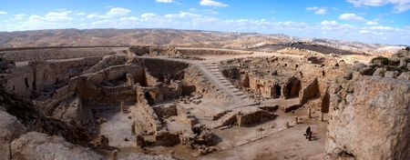 ancient israel: Herodion castle and temple ancient israel panorama