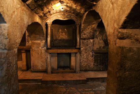 Jesus Christ holy land - christian piligrims tourism in Israel photo