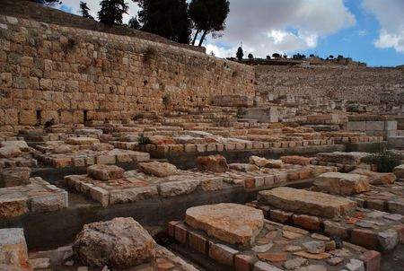 Jewish history and judaism - cemetry on olive moint in Jerisalem photo