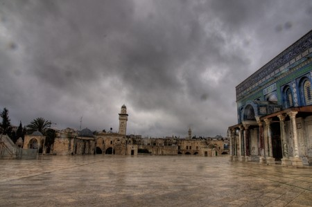 Holy temple mount in old city jerusalem Stock Photo