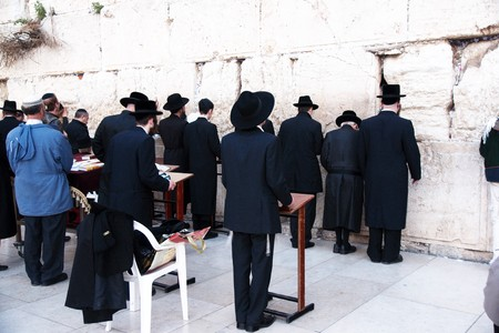 ortodox: Holy jewish place - the temple western wall