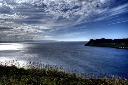 sea and slky on skye island - scotland tourism in nature Stock Photo