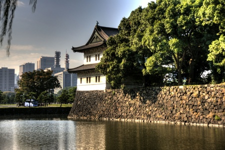 Imperior palace and garden in Tokyo - tourists attraction Editorial