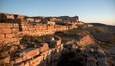 samaritans: Ruins on holy mount Gerizim of Samaritans in Israel territory
