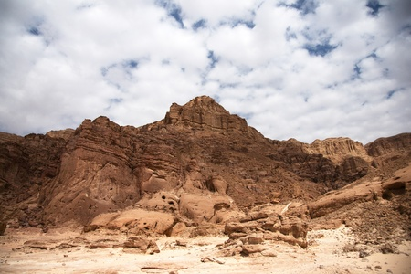 Timna geological park for tourists in Israel photo