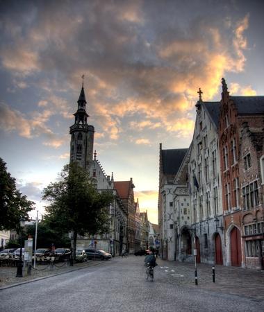 Brugge city in Belgium - beautiful tourism destination in Europe Stock Photo