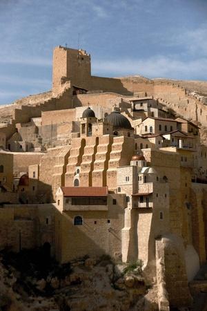 marsaba orthodox monastery in judean desert - israel tourism Stock Photo - 9951007