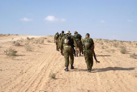 negev: Israeli soldiers in Negev desert fighting terror