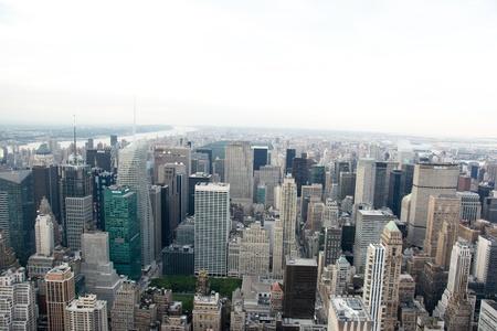 Bird eye oog op het New York van skyscrapper attractie