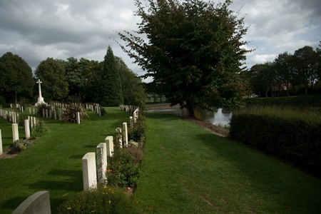 ypres: Military cemetery in Ypres for soldiers memory Editorial