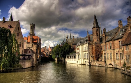 Brugge city in Belgium - beautiful tourism destination in Europe Editorial