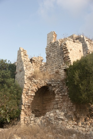 holyland: Yekhiam national park Castle in Israel for holiday travel Editorial