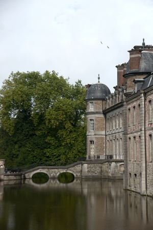 ligne: Wallonia europe vacation of Castle  and park in Belgium Editorial