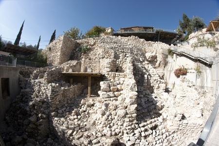 king solomon: City of David excavations Stock Photo