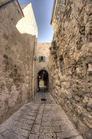 old jerusalem streets photo