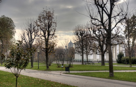 Vienna park view autumn travel europe tourism photo