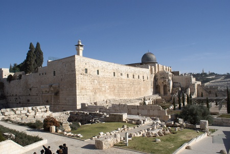 holy land: Al Aqsa mosque  in jerusalem holy land