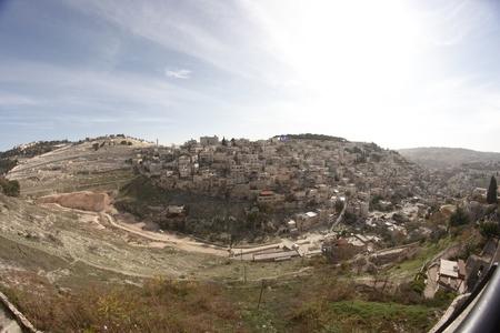 palestinian: Palestinian village in East Jerusalem in Israel
