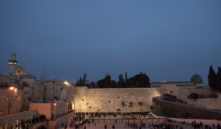 Wailing wall and Temple mount  in israel travel adventure photo