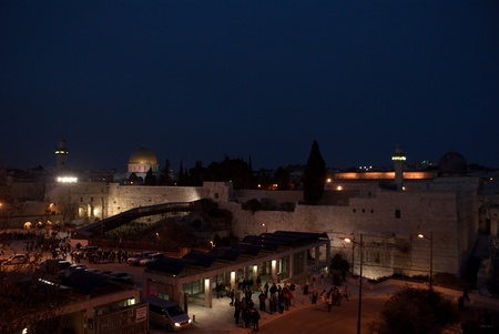 Temple mount view  in israel travel adventure Holy Land