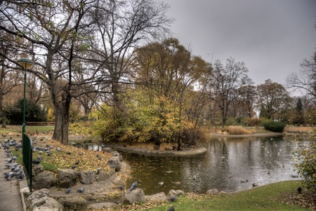 Autumn in Vienna park photo