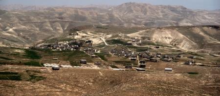 judea: Palestinian villages in Judea desert of Israel Editorial