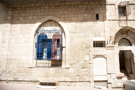 jewish community: Hadassa quater of Hebron jewish community old city Stock Photo