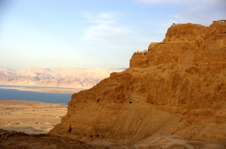 Masada and Dead sea in Israel