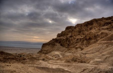 masada: Masada fortress and king Herod Stock Photo