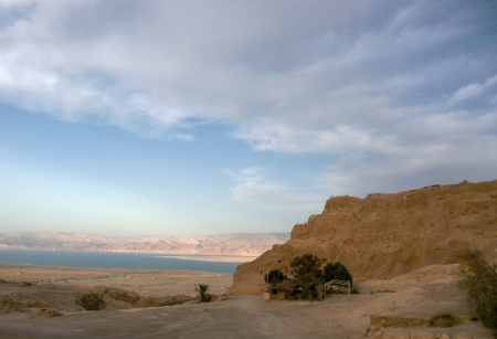 masada: Masada and Dead sea in Israel travel Stock Photo