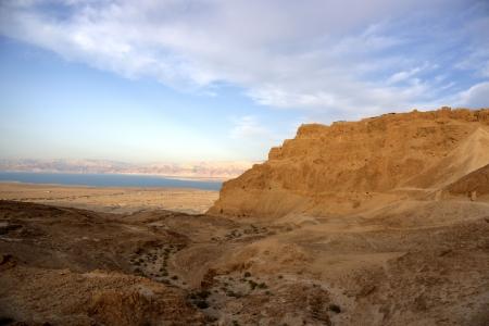masada: Masada and Dead sea in Israel