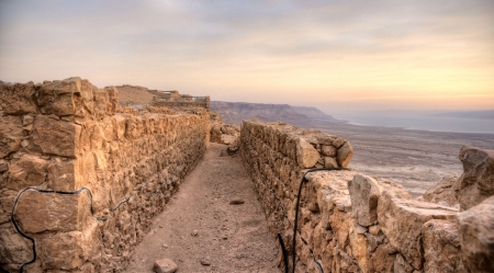 judean: Masada fortress and Dead sea sunrise in Israel judean desert tourism