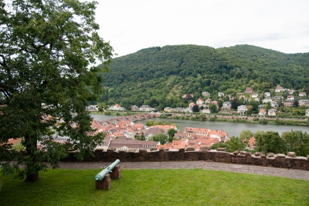 Heidelberg Germany attraction town view from castle photo