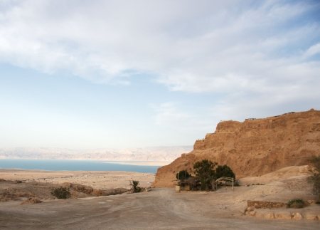 Masada and Dead sea in Israel travel  photo